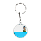 Dynamic OEM Round Water Floater Plastic Acrylic Key Chain With Liquid