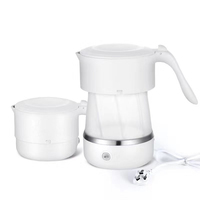 Electric Portable Folding Travel Water Kettle folded silicon Water Bottle Pot For Outdoor Mini Folding outdoor tea Kettle