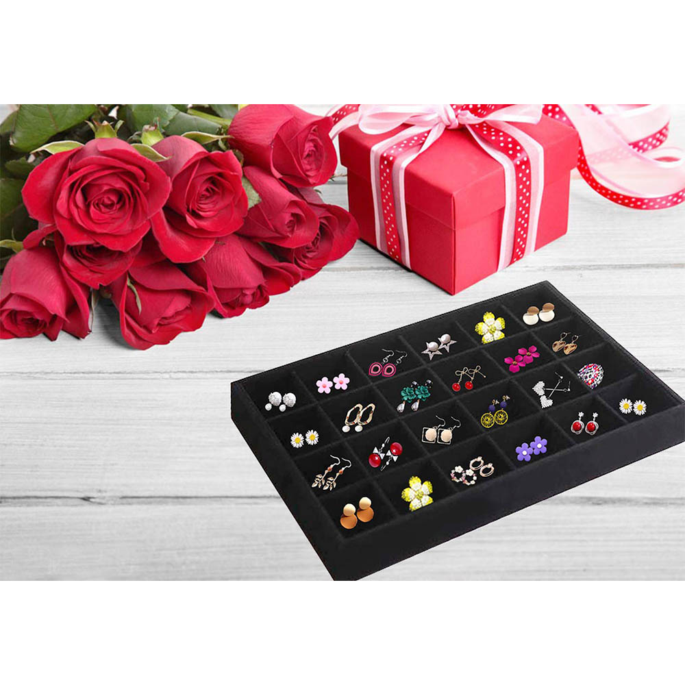 wholesale custom multi function velvet lined jewelry trays stackable  with inserts for drawers for home  discount