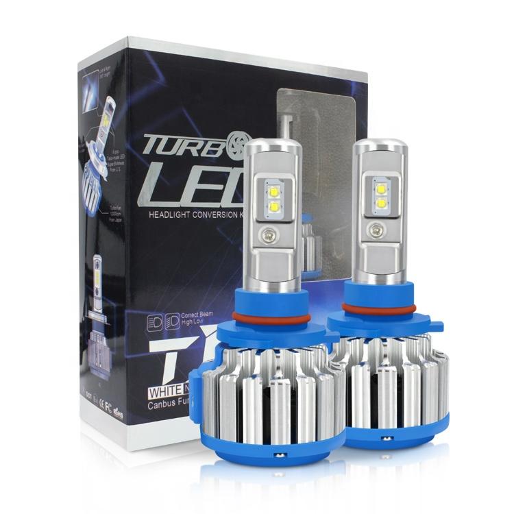 Hot sale led light 35W 6000K auto car light T1 9005 9006 12v 24v  led bulbs headlight for Universal Cars