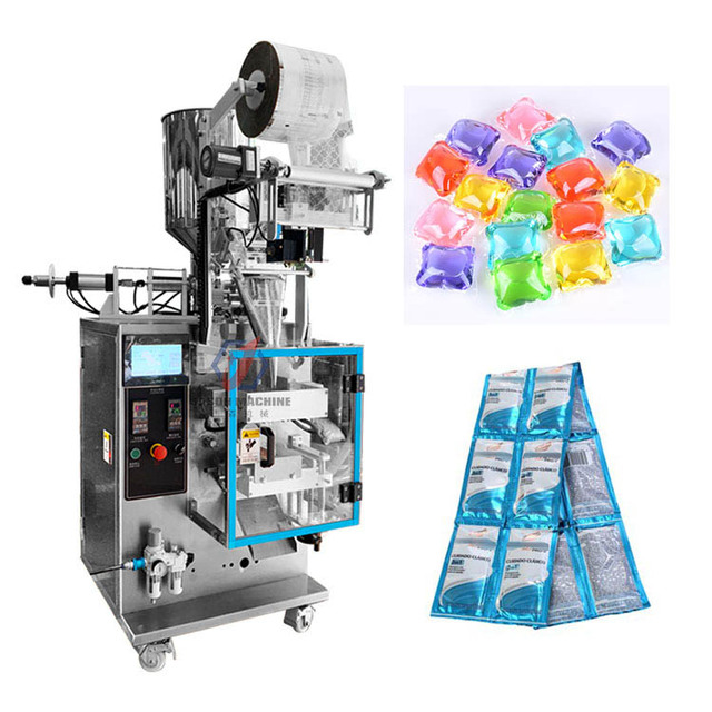 Automatic liquid pouch hotel dry hair shampoo detergent pods sachet packing machine