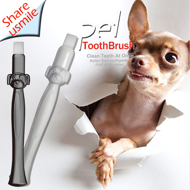 New design Bad Breath Tartar Teeth Care Dog Cat Cleaning Toothbrush Pet Supplies Brush Dogs