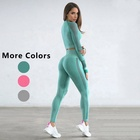 Best Quality Lady Women Sport Tops Legging Yoga Set Gym Suit Fitness Mesh fitness&yoga Sports Wears