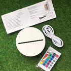 High Quality USB Cable Lamp Base 7 Colors LED ABS Lamp Base With Remote Control