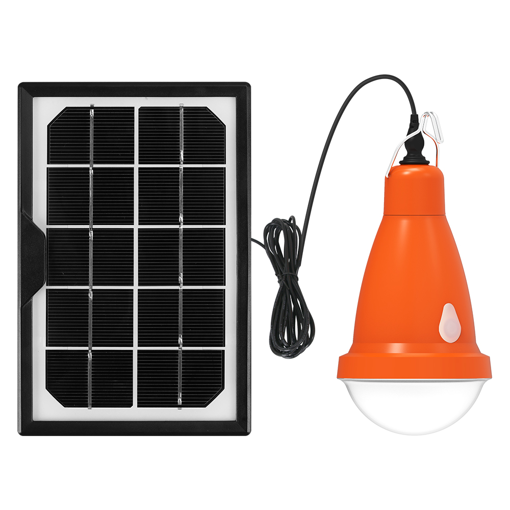 Portable led solar bulb lights for indoor and outdoor rechargeable with remote controller