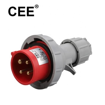 CEE ip67 4pin 380v 3p+e 16amp industrial waterproof plug