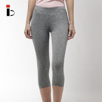 China manufacturer wholesale high quality rapid dry women grey solid leggings
