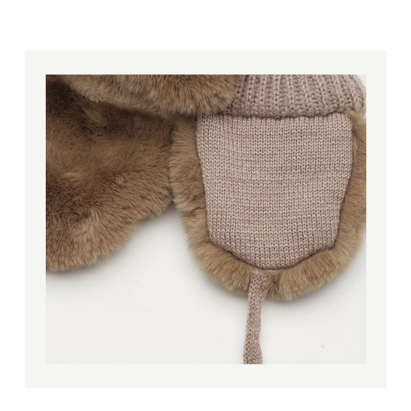 Cheap Plain Beanies Solid Fashion OEM Style Warm Acrylic Knit Hat fur for kids