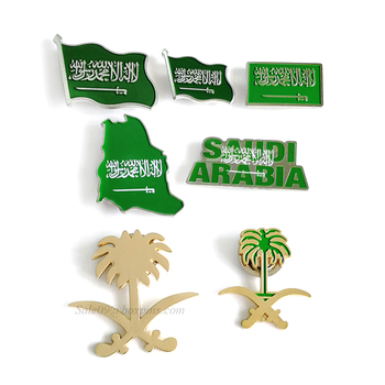 New Arrival ! Saudi Arabia Pin Badge Collar Pin Brooch for National Day Gifts