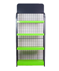 4 Layers Af Environmental Protection Green Multipurpose Metal Display Storage Racks Shelf Shelves Stands