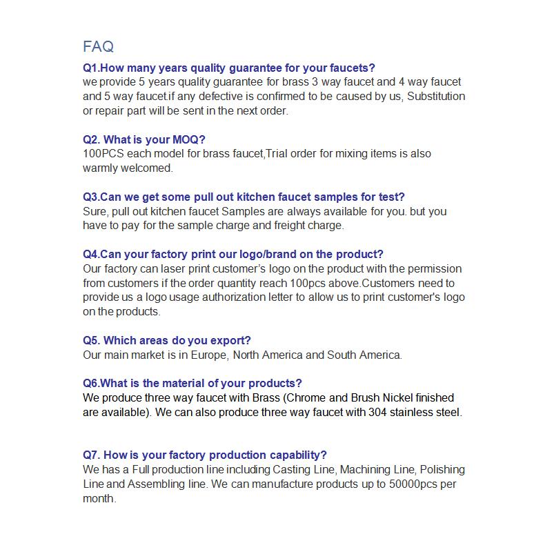 पूछे जाने वाले प्रश्न-तीन तरह से नल