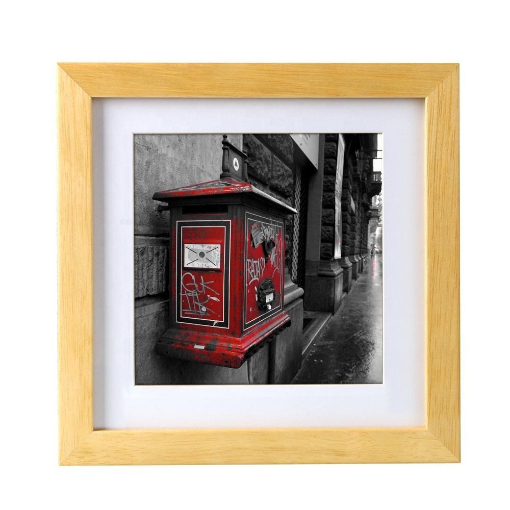 China style love unfinished wood frame photo