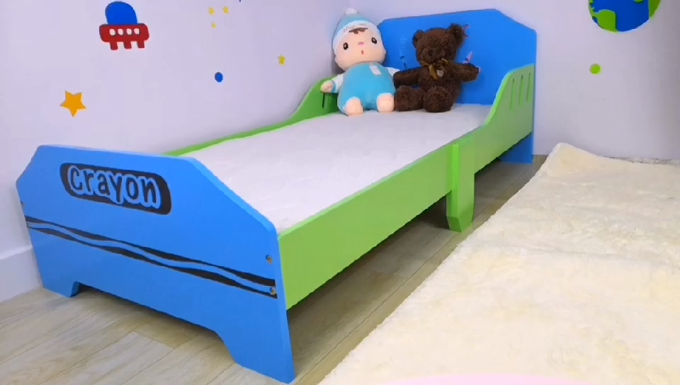 Slaapkamer meubilair kinderen 143*77*55 cm jongen houten peuter bed