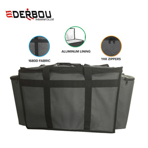 Food Delivery Bag - Premium Commercial Grade made for full size chafing steam trays or pans - Thick insulation cooler