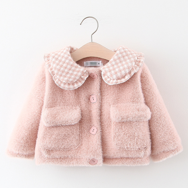 2020 Baby girl jackets girls outerwear coats winter kids jacket velour fabric garment lovely  coat baby girl clothes