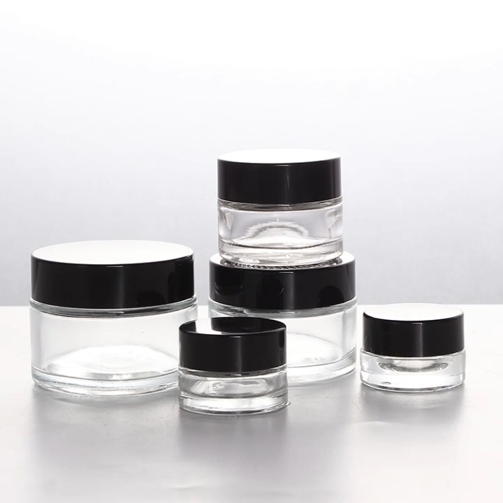 3g 5g 15g 30g 50g Frosted Glass Jar Cosmetic Jars with ABS Cap