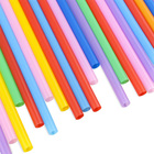 Hot sale factory direct gold plastic boba tea straw extra large flexible drinking straws halloween disposable hallo