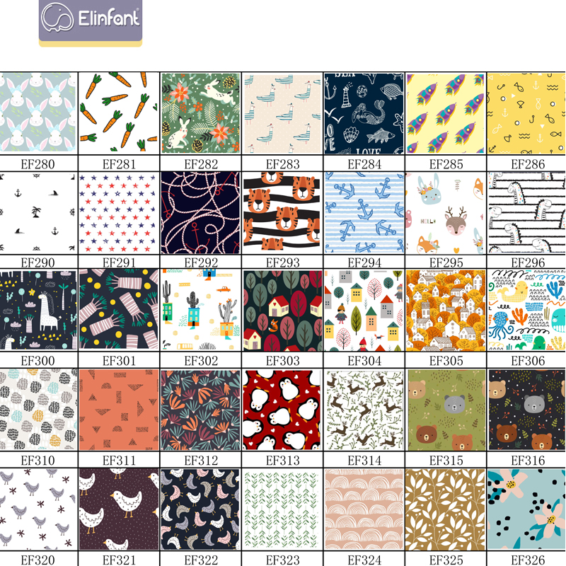 Elinfant 100% polyester PUL laminated Fabric waterproof cloth diaper fabric