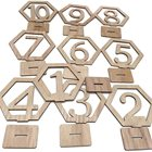 Table Numbers Wood Wedding Table Numbers 1-10 Hexagonal Wooden Numbers With Holder Base For Party Wedding Table Decoration