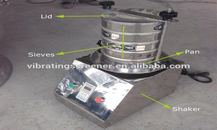 7 capa pruebas tamiz máquina para análisis del tamaño de las partículas
