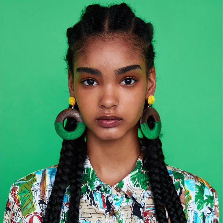 Cina donne 2020 hawaiian di grandi dimensioni di legno turchese dei monili degli orecchini