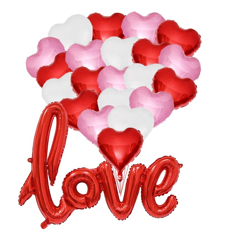 Red Love Balloons Heart Balloons <strong>Valentines</strong> <strong>Day</strong> Decorations <strong>Gift</strong> Idea <strong>For</strong> <strong>Him</strong> or Her Romantic Wedding Bridal Shower Party Decor