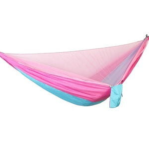 Nylon 210T Parachute nylon cloth two person camping mosquito net hammock