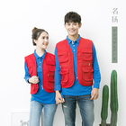 Breathable Vest Waistcoat Multi Pockets Cargoes Fisherman Vest Cartoon Logo Waistcoat for Fishing Hiking Journalist Photography Camping Safari Vest
