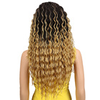 Braided Wigs Synthetic Curly Wigs Noble Long Middle Part Ombre Gold Cheap Afro Kinky Curly Braided 26inch Fiber Curly Medium Brown Synthetic Hair Wigs