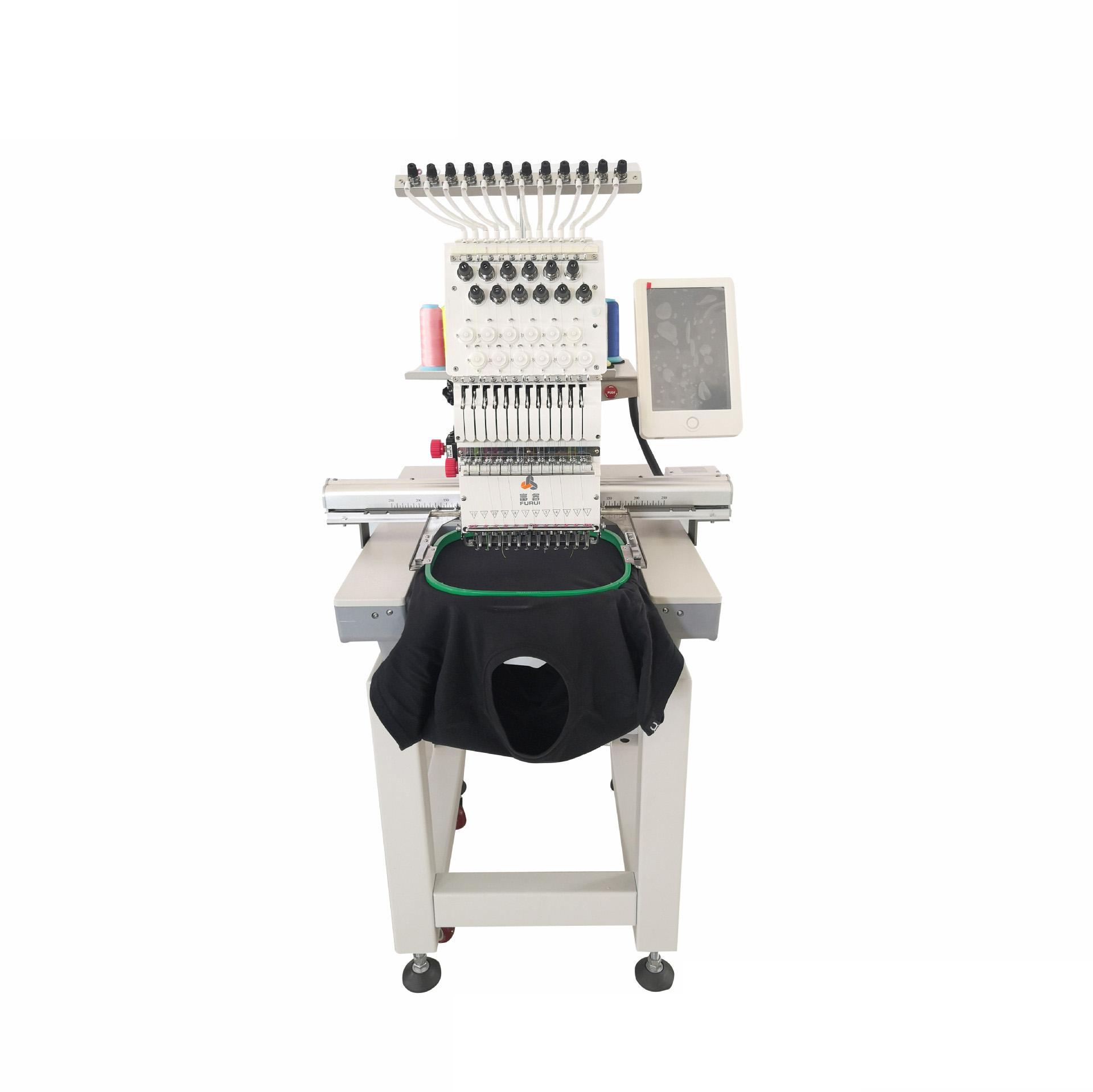Computer Stickerei Maschine Multi Kopf Einzigen Kopf High Speed Multi Funktion Kappe T-Shirt Kleid Stickerei Maschine