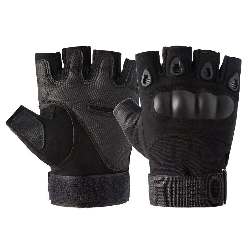 Hard knuckle Half finger <strong>motorcycle</strong> <strong>riding</strong> gloves Tactical Special forces combat protection gloves