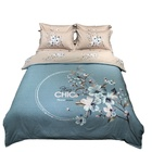 Bedding Set 2020 New Junrou Blue Style Cotton Sanding Fabric Bedding Set Quilt Cover Queen Size King Size Duvet Cover Set