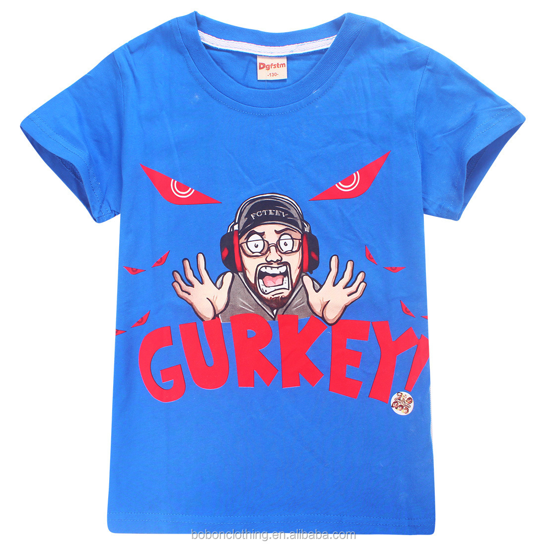 2019 hot game Gurkey printed youth t shirt stock no moq printed Gurkey t shirt supplier from China wholesale cotton kid t shirt