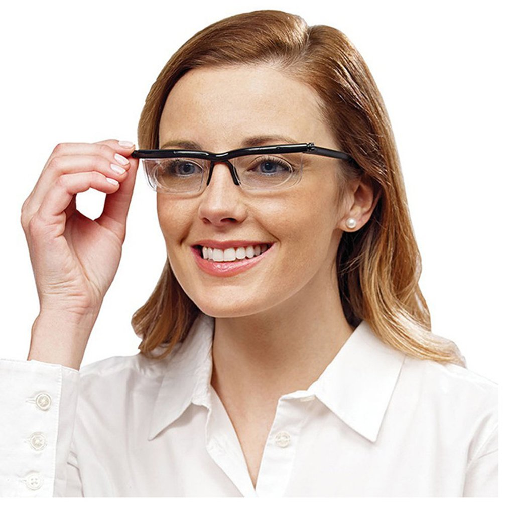 Adjustable Vision Focus Reading Glasses Myopia Eye Glasses -6D to +3D Variable Lens Binocular Magnifying Porta Oculos