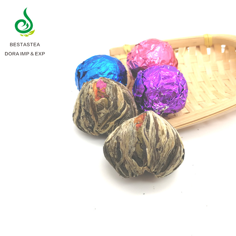 Artisan Gift packing Beauty tea Lily Jasmine Flavor Green Tea Flowering Blooming Tea ball - 4uTea | 4uTea.com