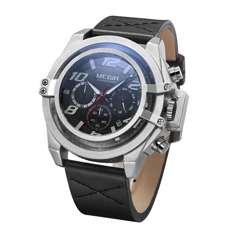 Quarto di gallone britannico Megir vigilanza di disegno di marca con ottimo prezzo mens orologi