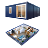 Popular modular 20ft container house furnished eco friendly mobile 2 bedroom container homes for sale