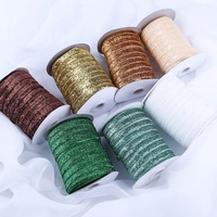 COOMAMUU hot sale glitter velvet ribbon 9mm 200Yards/roll christmas party decoration