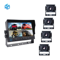 1080p ahd dumper tipper truck car rear view bumper vehicle rearview 4 cameras trailer car security monitor 9 inch system car