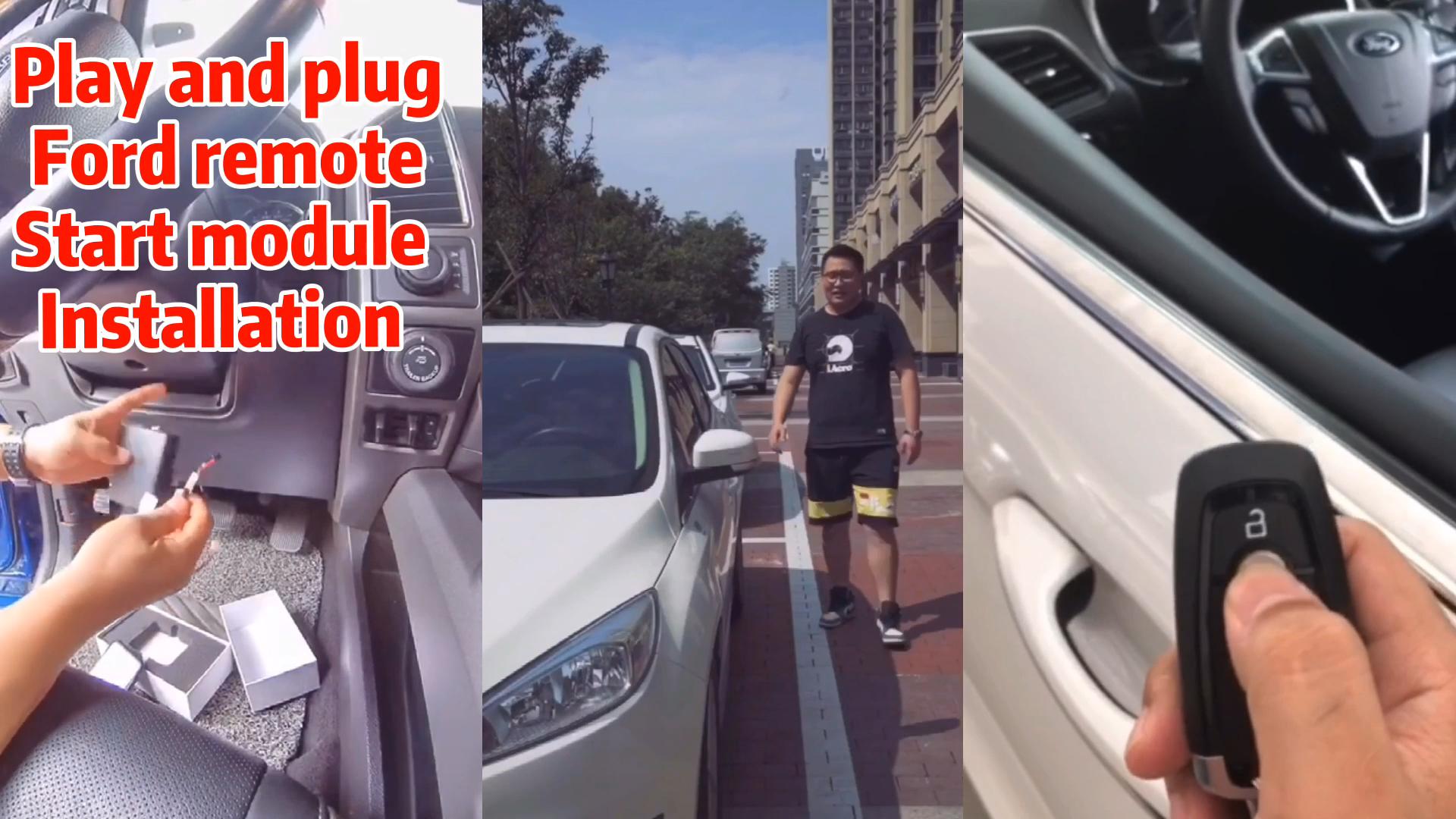 Start stop keyless entry inteligente Cardot carro original remoto diy início plug & play canbus para ford