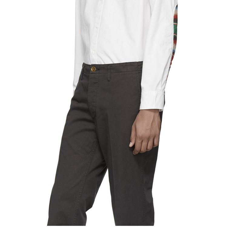 Black chino pants casual line 100% cotton custom men stretch chino trousers