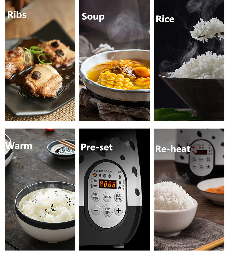 1.6L Mini portable electric rice cooker