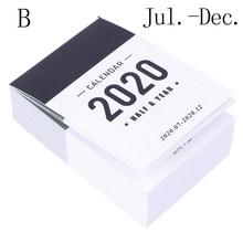 Милый календарь на 2020 год, мини-стол с полугодовым календарем, офисная, школьная работа, График обучения, Плановик, канцелярские принадлежно...(Китай)