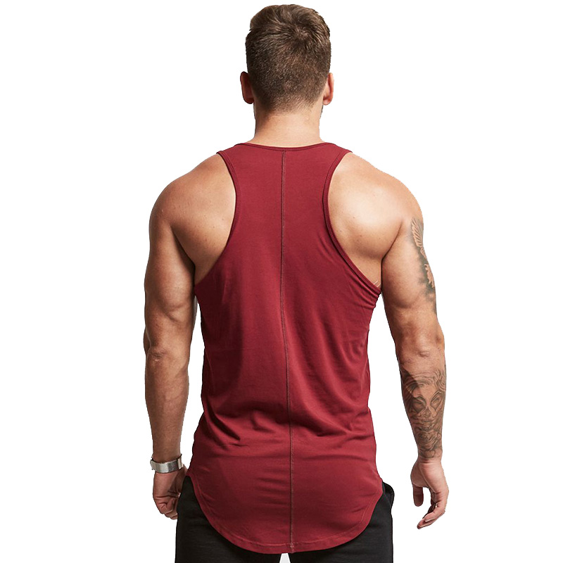 Fashion cotton sleeveless shirts tank top men Fitness shirt mens singlet Bodybuilding workout gym vest fitness men