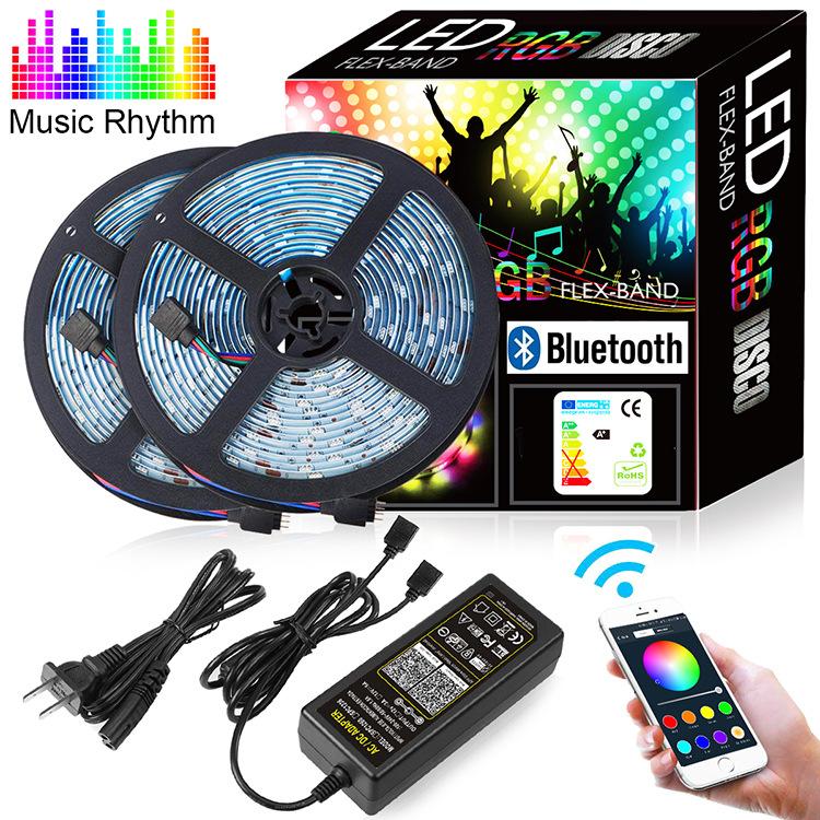 Music Waterproof RGB Led Strip Light 5M 10M LED String DC12V Fiexble Light Led Ribbon Tape LED String lights tape Holiday light