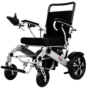 High Quality New Brushless Lightweight Foldable Motorized Power Wheelchair Folding Electric Wheelchair