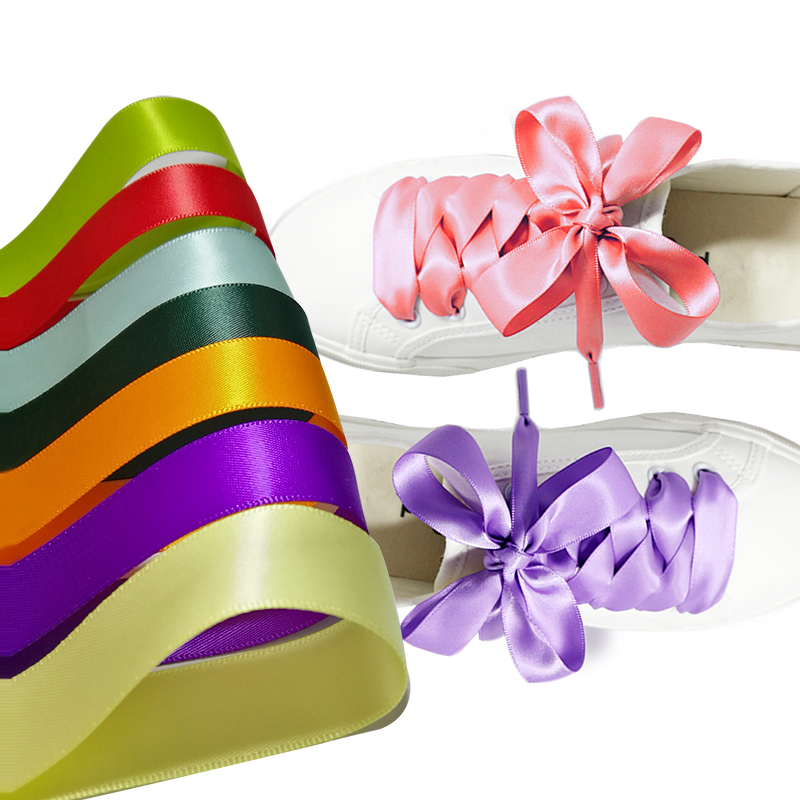 Fabrication de dentelle de chaussure, lacet personnalisé en gros, dentelle de chaussure en satin