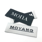 Fashion Woven Label Woven Name Labels High Density Fashion Design Black White Clothing Woven Label