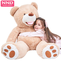 Niuniu Daddy Giant 160cm Plush Animal Toy Empty America Teddy Bear Cover Unstuffed Peluches Soft Doll 3 Colors Children Gift