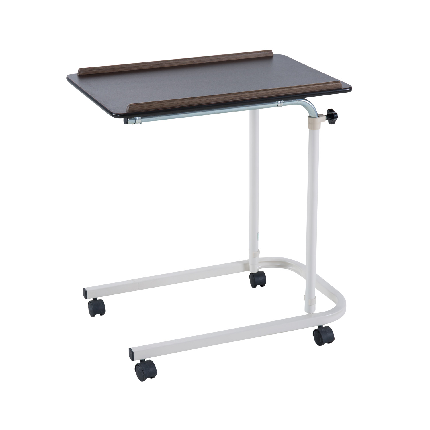 wood hospital laptop bed table standing adjustable to fit bed